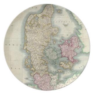 Vintage Map of Denmark (1801) Plates