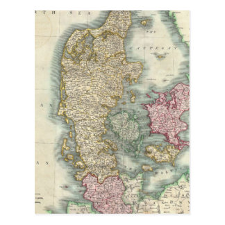 Vintage Map of Denmark (1801) Postcard
