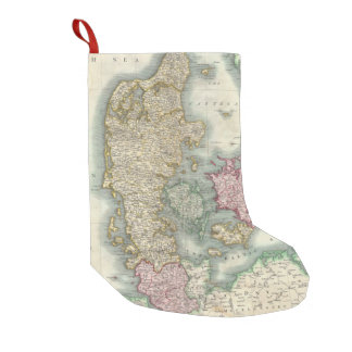 Vintage Map of Denmark (1801) Small Christmas Stocking