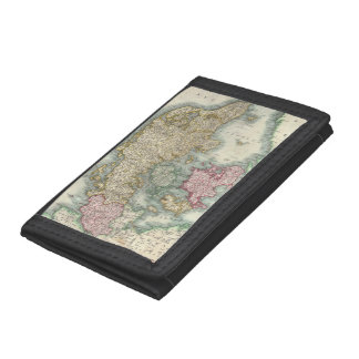 Vintage Map of Denmark (1801) Trifold Wallets