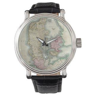 Vintage Map of Denmark (1801) Wristwatch