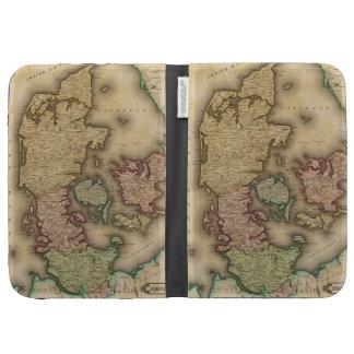 Vintage Map of Denmark 1831 Kindle 3 Cases