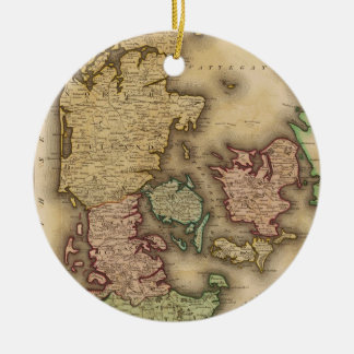 Vintage Map of Denmark (1831) Christmas Tree Ornament