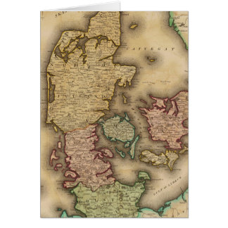 Vintage Map of Denmark (1831) Greeting Card