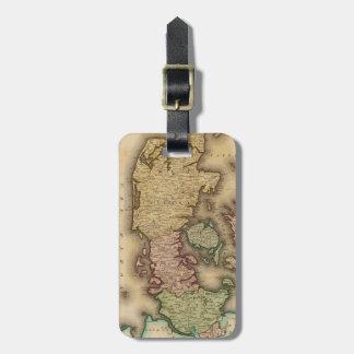 Vintage Map of Denmark (1831) Travel Bag Tag