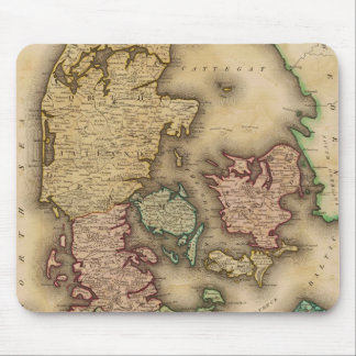 Vintage Map of Denmark 1831 Mouse Pads