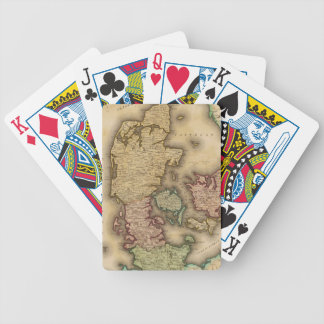 Vintage Map of Denmark 1831 Poker Cards