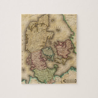 Vintage Map of Denmark (1831) Puzzles