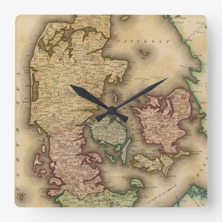 Vintage Map of Denmark (1831) Wall Clock
