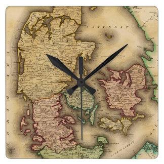 Vintage Map of Denmark (1831) Wall Clock