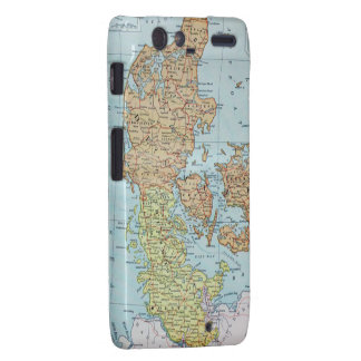 Vintage Map of Denmark 1905 Droid RAZR Covers