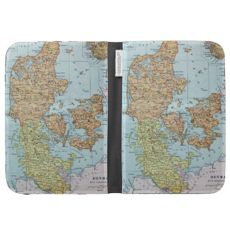 Vintage Map of Denmark 1905 Kindle 3 Cover