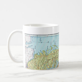 Vintage Map of Denmark (1905) Coffee Mug