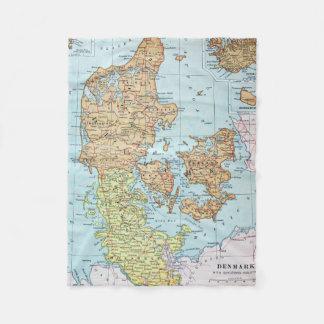 Vintage Map of Denmark (1905) Fleece Blanket