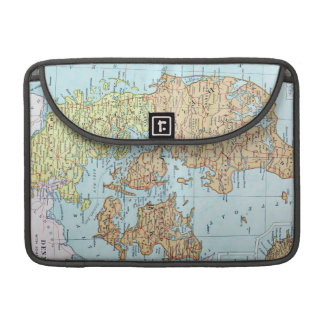 Vintage Map of Denmark 1905 Sleeve For MacBook Pro