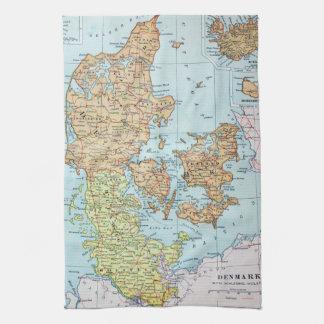 Vintage Map of Denmark (1905) Towels