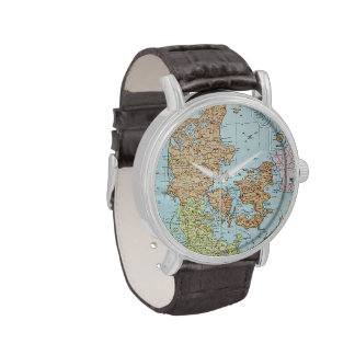 Vintage Map of Denmark 1905 Watches