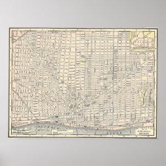 Vintage Map of Detroit (1895) Poster