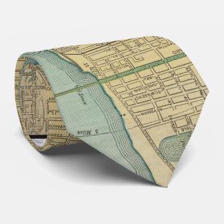Vintage Map of Detroit Michigan (1895) Tie