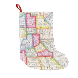 Vintage Map of Downtown Baltimore (1860) 2 Small Christmas Stocking