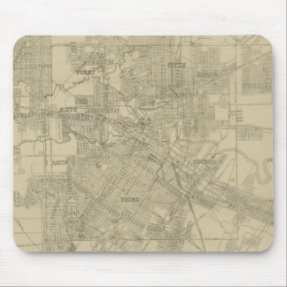Vintage Map of Downtown Houston (1913) Mouse Pad
