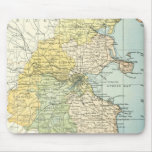 Vintage Map of Dublin and Surrounding Areas (1900) Mouse Pad