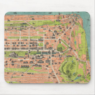 Vintage Map of Edinburgh Scotland (1935) Mouse Mat