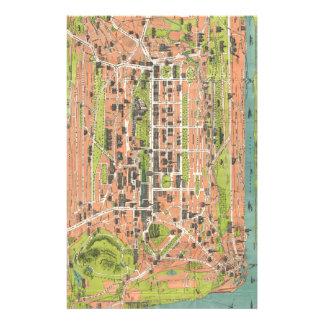 Vintage Map of Edinburgh Scotland (1935) Stationery