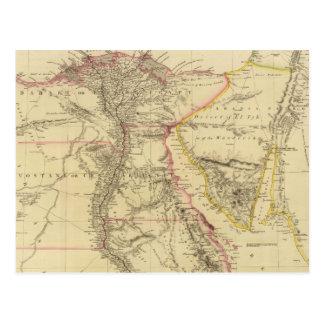 Vintage Map of Egypt (1832) Postcard