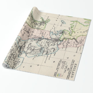 Vintage Map of England (1892) Wrapping Paper