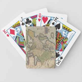 Vintage Map of Europe 1570 Deck Of Cards
