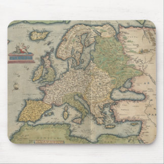 Vintage Map of Europe 1570 Mouse Pads