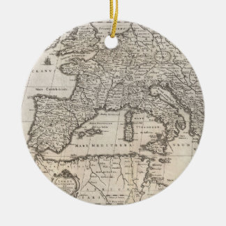Vintage Map of Europe (1852) Christmas Ornament