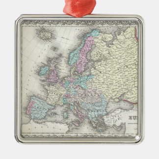 Vintage Map of Europe (1855) Christmas Ornament