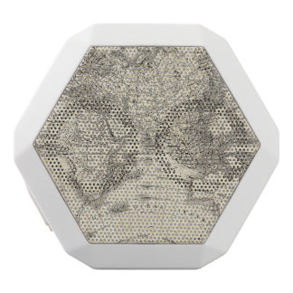 Vintage Map Of Europe and Asia White Bluetooth Speaker