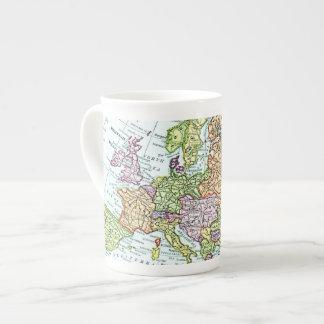 Vintage map of Europe colorful pastels Bone China Mug