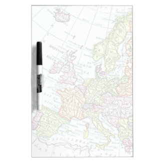Vintage map of Europe colorful pastels Dry Erase Board