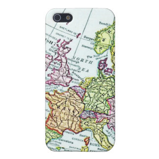 Vintage map of Europe colorful pastels iPhone 5 Case