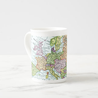 Vintage map of Europe colorful pastels Tea Cup