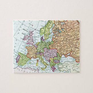 Vintage map of Europe colorful pastels Puzzle