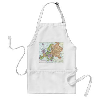 Vintage map of Europe colorful pastels Standard Apron