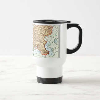 Vintage map of Europe colorful pastels Travel Mug