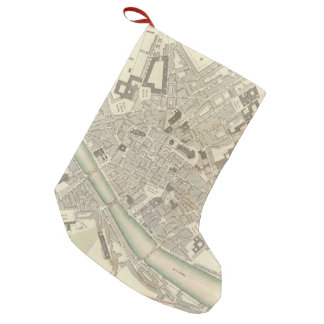 Vintage Map of Florence Italy (1835) Small Christmas Stocking