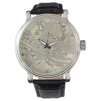 Vintage Map of Florence Italy (1835) Watch