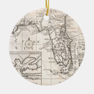 Vintage Map of Florida (1763) Christmas Ornament