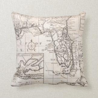 Vintage Map of Florida (1763) Cushion
