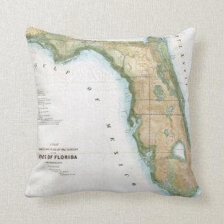 Vintage Map of Florida (1848) Cushion