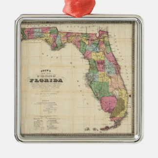 Vintage Map of Florida (1870) Christmas Ornament