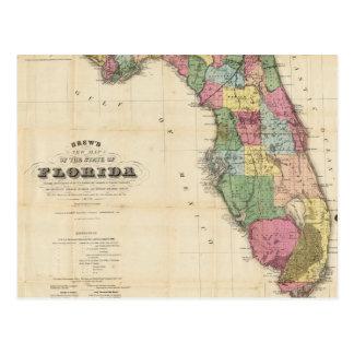 Vintage Map of Florida 1870 Postcards