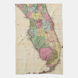 Vintage Map of Florida (1870) Tea Towel